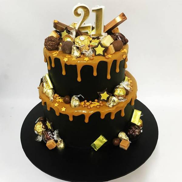 Two Tier Black and Gold Overload