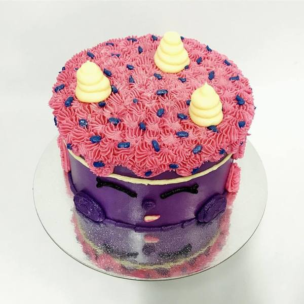 Purple Shopkins Cake