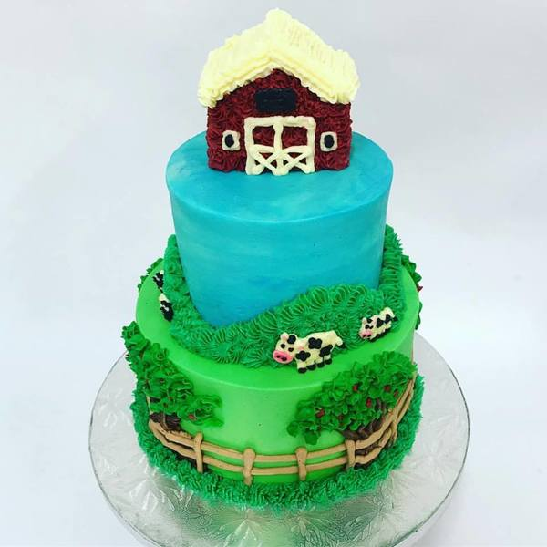 Three Tier Farm Cake