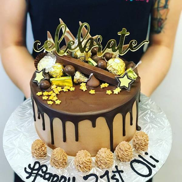 Chocolate and gold Celebrate