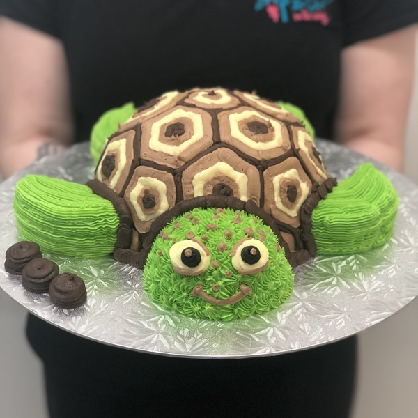 Turtle Cake Brown and White