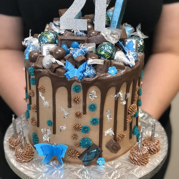 Blue and Chocolate Theme Overload with Blue Butterflies