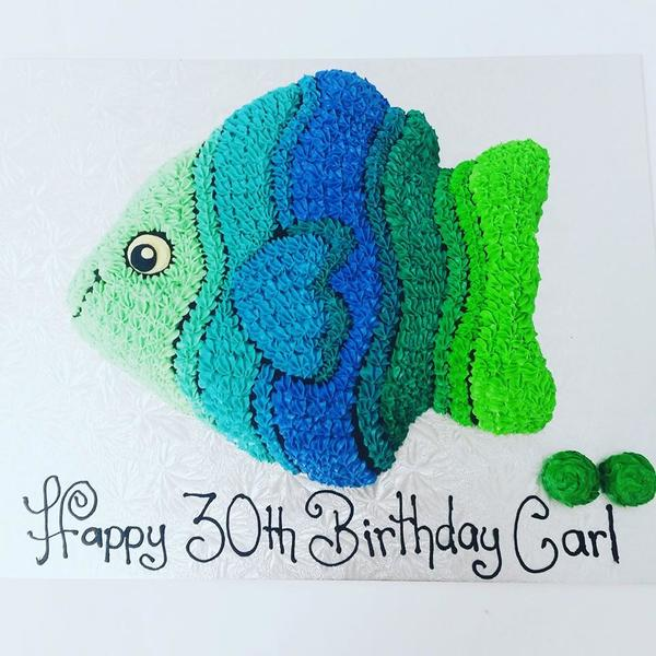 Blue and Green Fish Cake