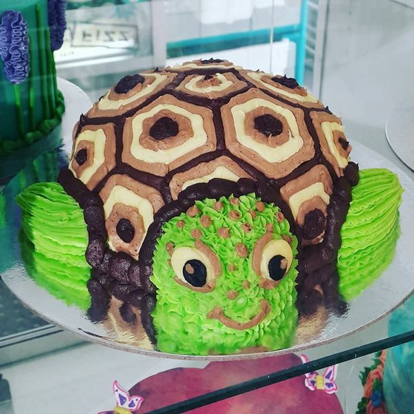 Turtle Cake brown and green