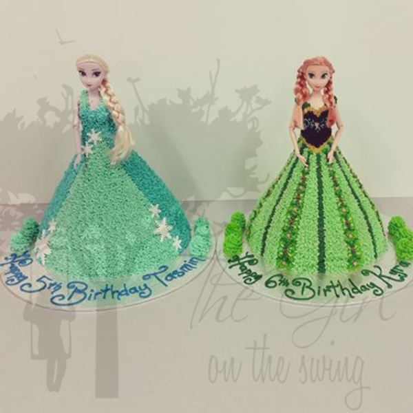 Anna and Elsa Seperate Cakes