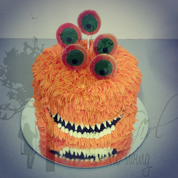 Hairy Monster with Lollipop Eyes