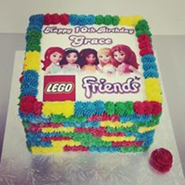 Lego Friends Edible Image cake