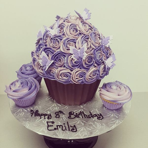 Two Tone Purple Roses with Chocolate Case