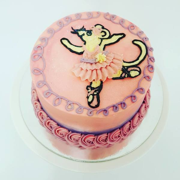 Pink and Purple Angelina Ballerina Cake