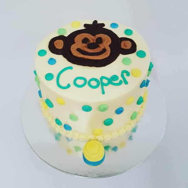 Polka Dot Monkey Cake