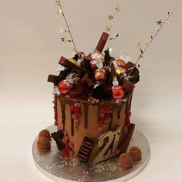 Tall Red, Bronze and Gold Chocolate Overload