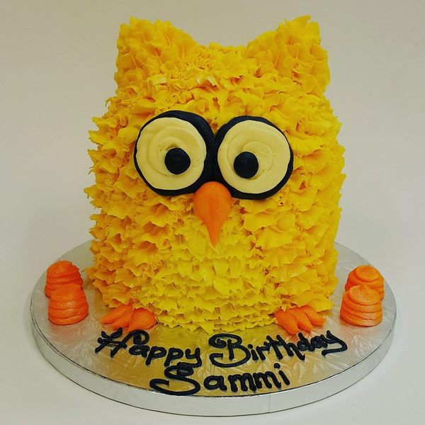 Large Yellow 3D Owl