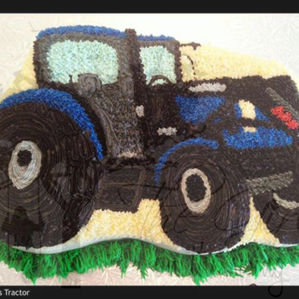 Black and Blue Tractor